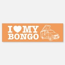 I Love My Bongo - Orange Bumper Stickers