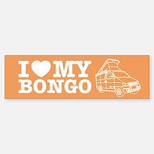 I Love My Bongo - Orange Sticker (Bumper)