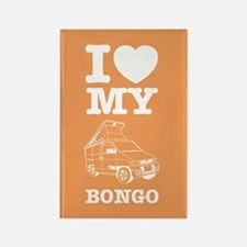 I Love My Bongo - Orange Rectangle Magnet