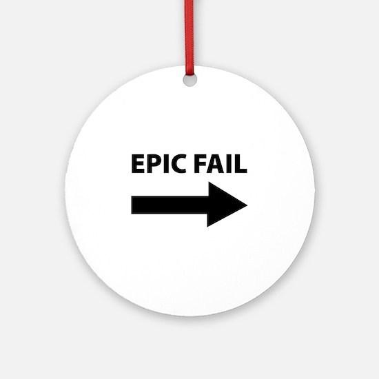 Epic Fail Ornament (Round)