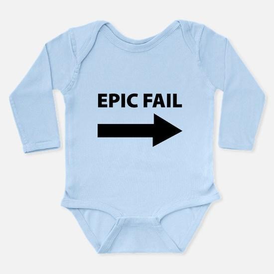 Epic Fail Long Sleeve Infant Bodysuit