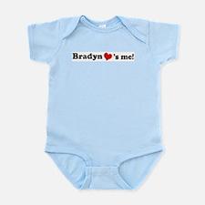 Bradyn loves me Infant Creeper
