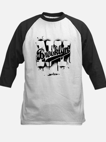Brooklyn NY Graffiti Spray Kids Baseball Jersey
