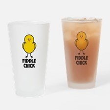 Fiddle Chick Drinking Glass