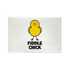 Fiddle Chick Rectangle Magnet