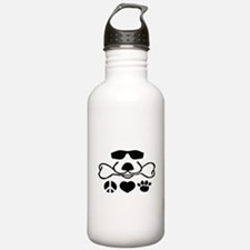 Peace Love Dog Water Bottle