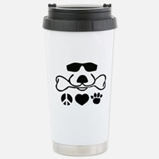 Peace, Love, Dog Stainless Steel Travel Mug Cool D