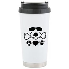 Peace, Love, Dog Travel Mug Cool D