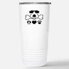 Peace, Love, Dog Travel Mug Cool D