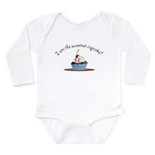 Long Sleeve Infant Bodysuit Sweet Cupcake Boy