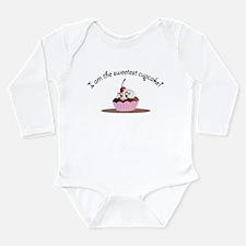 Long Sleeve Infant Bodysuit Sweet Cupcake Girl