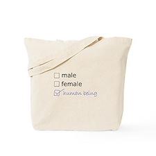 Genderqueer/Trans Human Being Tote Bag
