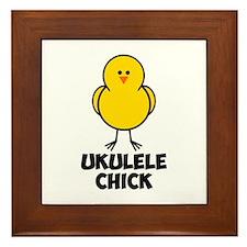 Ukulele Chick Framed Tile