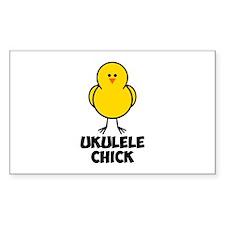 Ukulele Chick Decal