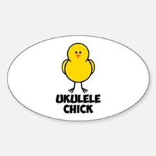 Ukulele Chick Sticker (Oval)