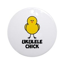 Ukulele Chick Ornament (Round)