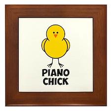 Piano Chick Framed Tile