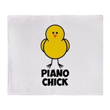 Piano Chick Throw Blanket