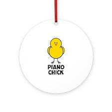 Piano Chick Ornament (Round)