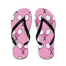 Girls Tennis Player Flip Flops