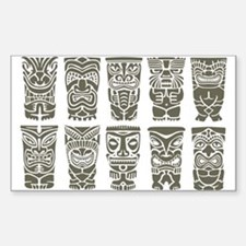 Cute Polynesian Sticker (Rectangle)