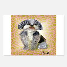 Cute Shih poo Postcards (Package of 8)
