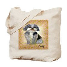 Funny Poodle art Tote Bag