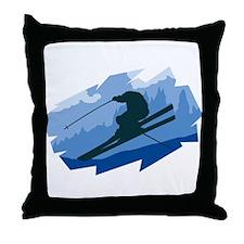 Ski Jumper Throw Pillow