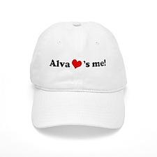 Alva loves me Baseball Baseball Cap