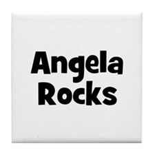 Angela Rocks Tile Coaster