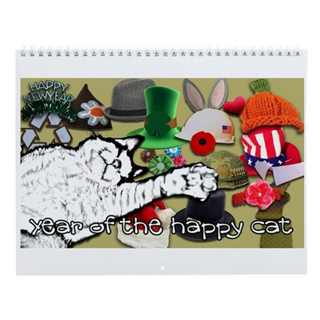 Year of the happy cat calendar Wall Calendar