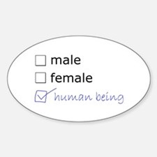 Genderqueer/Trans Human Being Decal