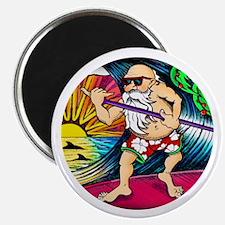 Paddle Surfing Santa Magnet
