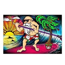 Paddle Surfing Santa Postcards (Package of 8)
