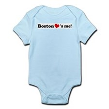 Boston loves me Infant Creeper