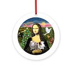Mona's 2 Guinea Pigs Ornament (Round)