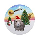 Guinea pigs Round Ornaments