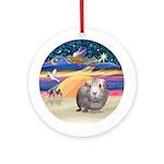 XmasStar-Guinea Pig (#2) Ornament (Round)