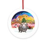 Xmas Music 2 - Guinea Pig (#2)Ornament (Round)