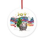 XmasMusic1-Joy-Guinea Pig #2 Ornament (Round)