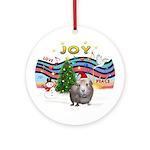 XmasMusic1-Guinea Pig (#2) w/hat Ornament (Round)