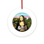 Mona & 3 Guinea Pigs (Round)