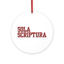 Sola Scriptura College Ornament (Round)