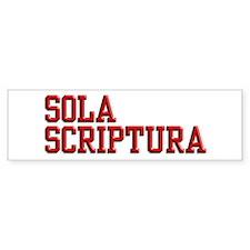 Sola Scriptura College Bumper Sticker