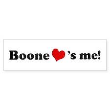 Boone loves me Bumper Car Sticker