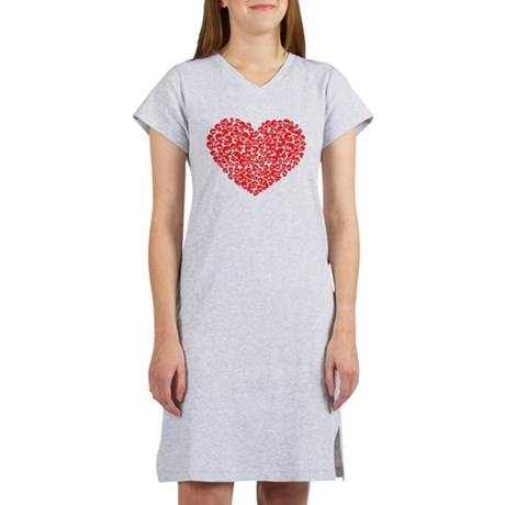 Heart of Skulls Women's Nightshirt