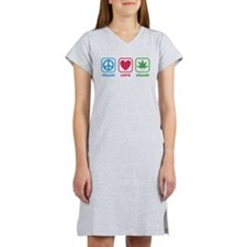 Peace Love Grass Women's Nightshirt