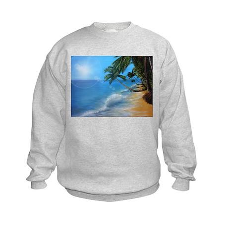 Tropical hawaji beach holiday Kids Sweatshirt