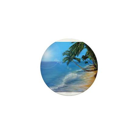 Tropical hawaji beach holiday Mini Button (100 pac