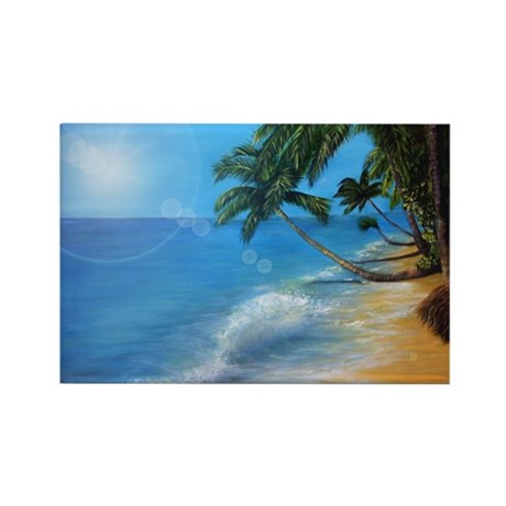 Tropical hawaji beach holiday Rectangle Magnet (10